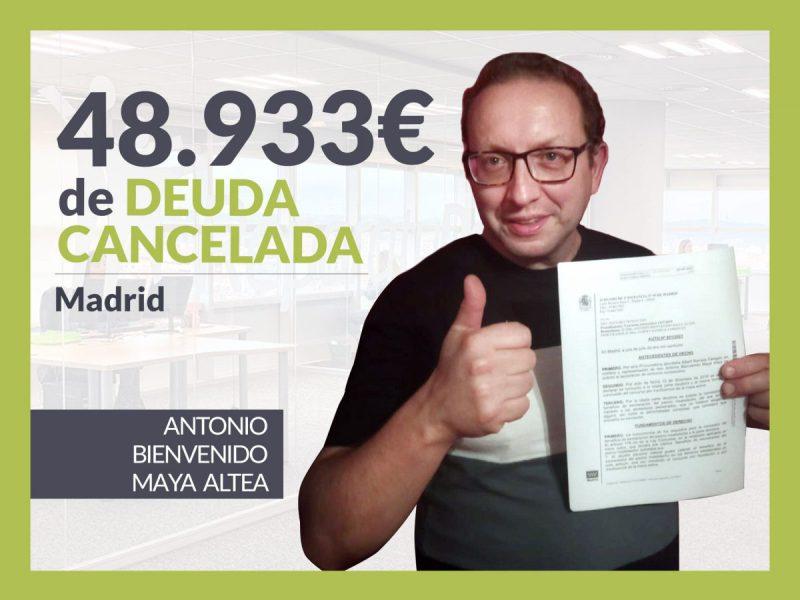 Repara tu Deuda Abogados cancela 48.933? en Madrid con la Ley de Segunda Oportunidad